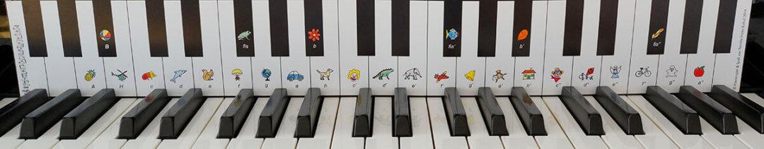 Tastenschablone Klavierspiel & Spass