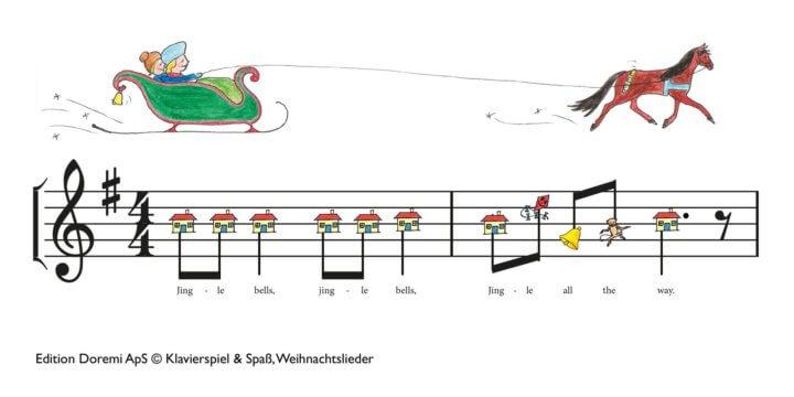 Klaviernoten für Kinder mit bunten Figuren | Klavierspiel & Spaß